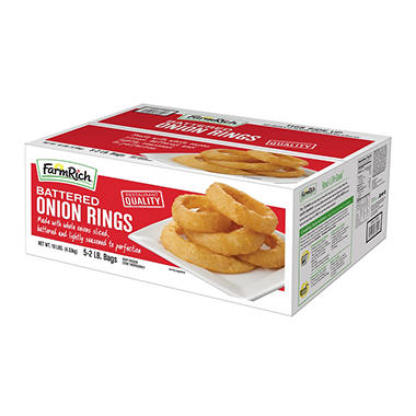 Farm Rich® Battered Onion Rings - 10 lbs.
