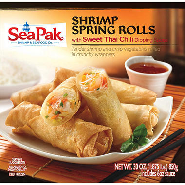 SeaPak Shrimp Spring Rolls with Dipping Sauce - 30 oz.