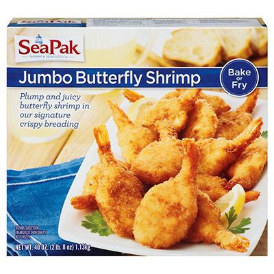 SeaPak Shrimp & Seafood Co.™ Jumbo Butterfly Shrimp - 40 oz.