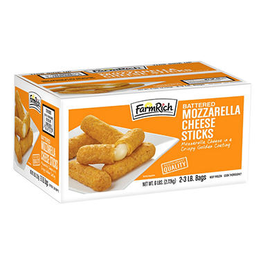 FarmRich® Battered Mozzarella Cheese Sticks - 6 lbs.