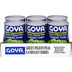Goya Green Pigeon Peas - 6/15 oz. cans