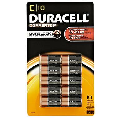 Duracell - C - 10 pk.