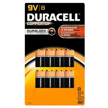 Duracell - 9V - 8 pk.