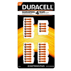 Duracell Hearing Aid Size #13 Batteries 28ct.