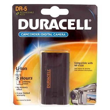 DR5RES Duracell� Camera/Camcorder Battery