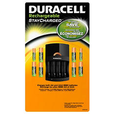 Duracell Rechargeable w/Charger - AA/AAA - 8 pk.
