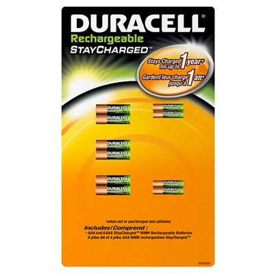 Duracell Rechargeable - AA/AAA - 10 pk.