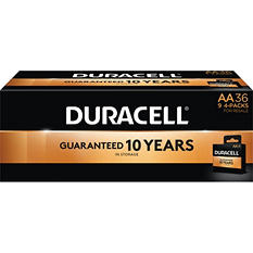 Duracell Coppertop Alkaline Batteries AA - 36 pk