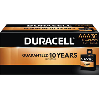 Duracell Coppertop Alkaline Batteries AAA - 36 pk