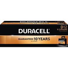 Duracell Coppertop Alkaline Batteries D - 12 pk