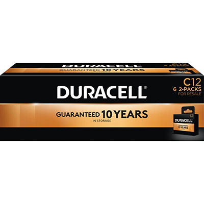 Duracell Coppertop Alkaline Batteries C - 12 pk