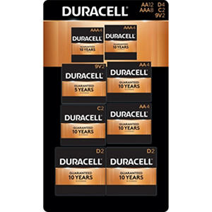 Duracell Coppertop Alkaline AA, AAA, C, D, and 9V Batteries Assortment Pack for Resale