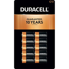 Duracell Coppertop Alkaline Batteries C - 10 pk