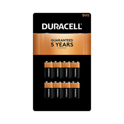 Duracell Coppertop Alkaline Batteries 9V - 8 pk