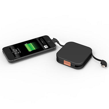 Duracell Powermat GoPower Day Trip 1850 mAh Portable Charger / Pocket Sized External Battery Power Bank for iPhone 5s/5/5c and other Smartphones - Android, Samsung, HTC, Nokia, Blackberry, LG, Motorola and more.