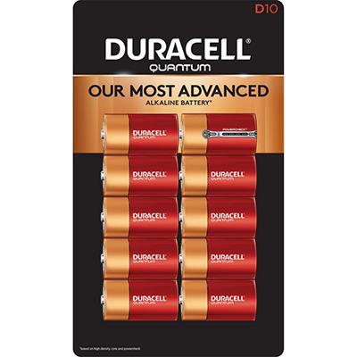 Duracell Quantum D Alkaline Batteries 10ct. Pk
