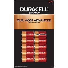 Duracell Quantum C Alkaline Batteries 10ct. Pk