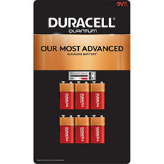 Duracell Quantum 9V Alkaline Batteries 6ct. Pk