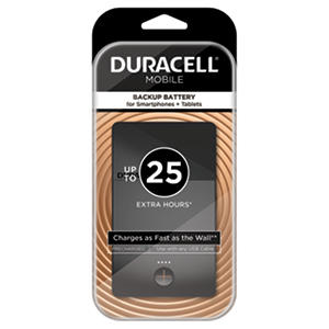 Duracell Mobile PowerPack Mini 3400 mAh Backup Battery For Smartphones + Tablets