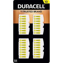 Duracell Hearing Aid Size 10 Batteries, 32 Count
