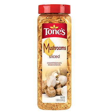 Tone's Freeze Dried Sliced Mushrooms - 1.5 oz.