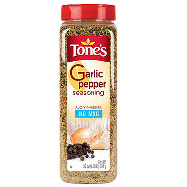 Tone's® Garlic Pepper Blend - 22 oz. shaker