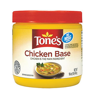Tone's® Chicken Base - 16 oz. jar