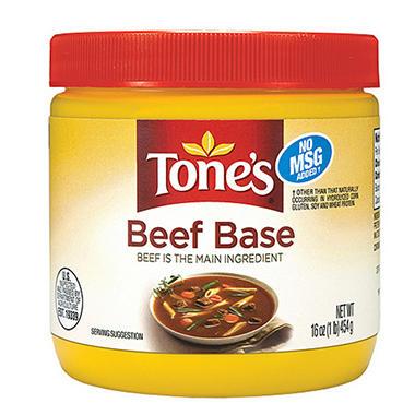 Tone's® Beef Base - 16 oz. jar