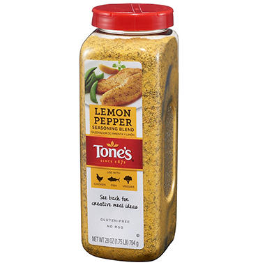 Tone's® Lemon Pepper Blend - 28 oz. shaker