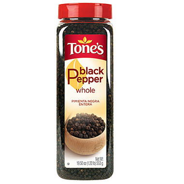 Tone's� Whole Black Peppercorns - 19.5 oz.