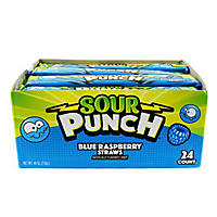 Sour Punch Straws Blue Raspberry (2 oz., 24 ct.)