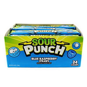 Sour Punch Straws Blue Raspberry - 2 oz. - 24 ct.