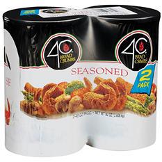 4C Seasoned Bread Crumbs - 2/46 oz.