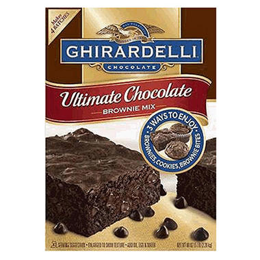 Ghirardelli Ultimate Brownie Mix 4 pack/80 oz