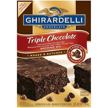 Ghirardelli 174 triple chocolate brownie mix 80oz sam s club