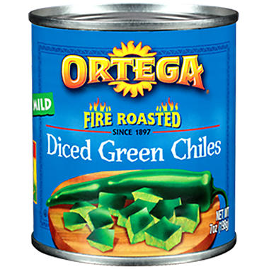 Ortega Diced Green Chiles - 8/7 oz.
