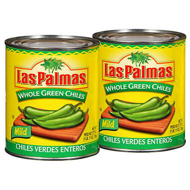 Las Palmas® Whole Green Chiles - 2/27 oz. cans
