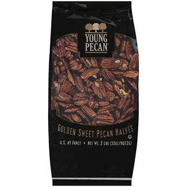 Young Pecan® Golden Sweet Pecan Halves -  2 lb.