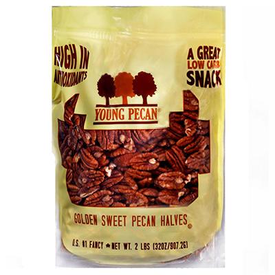 Young Pecan Golden Sweet Pecan Halves - 32 oz.