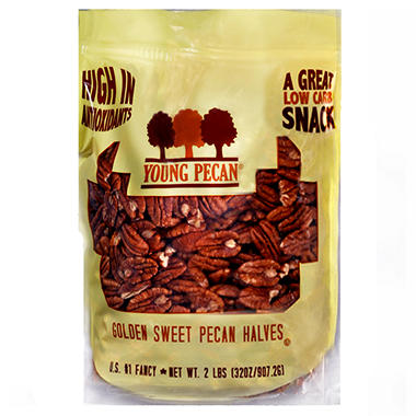 Young Pecan Golden Sweet Pecan Halves - 32 oz.
