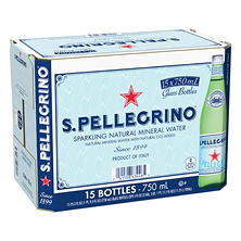 S. Pellegrino Sparkling Natural Mineral Water (750 ml bottles, 15 pk.)
