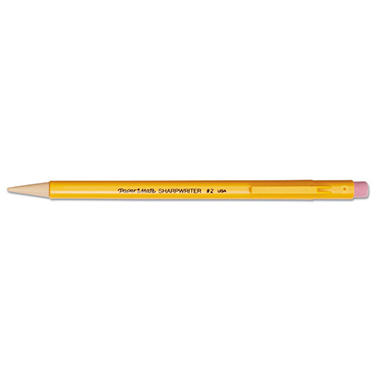 Paper Mate - Sharpwriter Mechanical Pencil, HB, 0.7 mm, Yellow Barrel - 12 Pencils