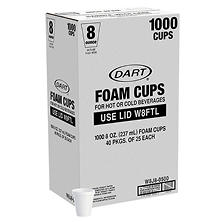 Dart® Foam Cups - 1000/8 oz.