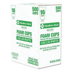 Dart® Foam Cups - 500/16 oz.