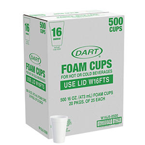 Dart? Foam Cups - 500/16 oz.