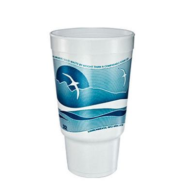 32 oz. Horizon Printed Foam Pedestal Cup - 400/case