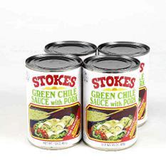 Stokes Green Chile Sauce w/Pork - 4/15 oz.
