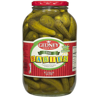 Gedney Baby Dill Pickles - Half Gallon - 64 oz.
