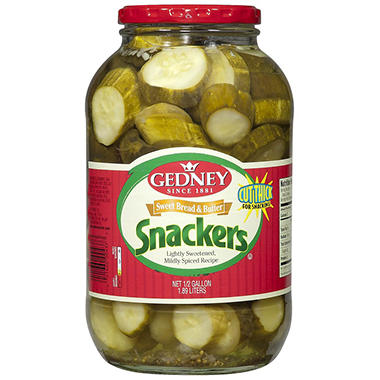 Gedney Sweet Bread & Butter Snackers - Half Gallon - 64 oz.