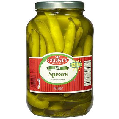 Gedney Fresh Pack Dill Spears - One Gallon - 128 oz.